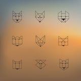 Geometric animals Stock Photo