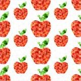 Geometric apple pattern. Geometric apple seamless pattern background vector illustration