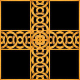 Geometric Arabesque Cross Stock Photography