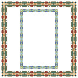 Geometric, Arabic colorful frameworks, rectangular and square. For page decoration, title, card, label Royalty Free Stock Image