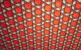 Geometric Arabic pattern, photo background. Geometric Arabic pattern, red wooden ceiling, background photo texture Royalty Free Stock Photos
