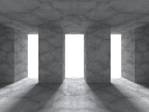 Geometric architecture background. Empty concrete room interior. 3d render illustration Stock Photo