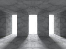 Geometric architecture background. Empty concrete room interior Stock Photo