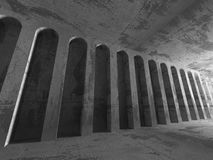 Geometric architecture background. Empty concrete room interior Royalty Free Stock Image