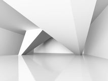 Geometric Architecture Construction. Modern Interior Background. 3d Render Illustration Stock Photography