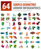 Geometric arrow infographics, mega collection Stock Images