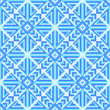 Geometric arrows and squares. Cross-stitch. Crafts and Hobbies. Stock Photography