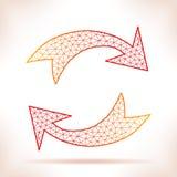 Geometric arrows. Royalty Free Stock Photography