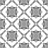 Linear art deco black and white pattern Stock Photos