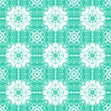 Geometric art deco pattern with floral shapes. Geometric art deco pattern with organic floral shapes in bright tropical blue color Stock Illustration