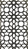 Geometric Art. Geometric pattern art in the windows of a prayer room Royalty Free Stock Photo