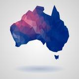 Geometric australia map Stock Image