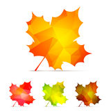 Geometric Autumn Leaves Royalty Free Stock Image