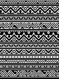 Geometric aztec black and white seamless pattern, vector Royalty Free Stock Image