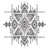 Geometric aztec pattern. Tribal tattoo style can be used for textile, yoga mats, phone cases, rug Stock Photos