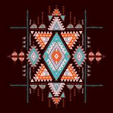 Geometric aztec pattern. Tribal tattoo style can be used for textile, yoga mats, phone cases, rug royalty free illustration