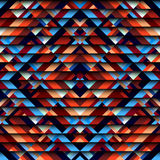 Geometric aztecs pattern. Seamless geometric abstract pattern in aztecs style on stripes background royalty free illustration