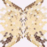 Geometric background, abstract hexagonal pattern Royalty Free Stock Photo