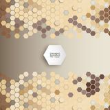 Geometric background, abstract hexagonal pattern Royalty Free Stock Images