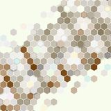 Geometric background, abstract hexagonal pattern Stock Photos