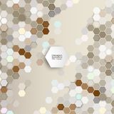 Geometric background, abstract hexagonal pattern Royalty Free Stock Photography
