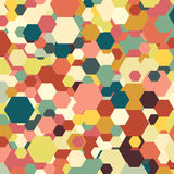 Geometric background, abstract hexagonal pattern Royalty Free Stock Photos