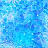 Geometric background of blue triangle Royalty Free Stock Photos