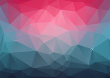 Geometric Background - Bright Pink and Turquoise. Abstract geometric background in bright pink and turquoise colors Stock Photo