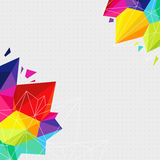 Geometric background with bright triangle elements Stock Image