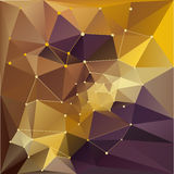 Geometric background. Brown Geometric abstract background illustration Stock Image