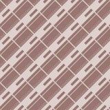 Geometric background. Brown seamless wallpaper Royalty Free Stock Image