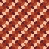 Geometric background of brown tint rhombus and square shapes Royalty Free Stock Images