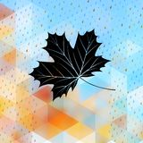 Geometric background card with maple leaf. EPS 10 Stock Photos