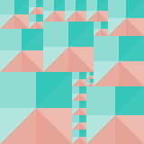Geometric background of colored squares and triangles. Vector abstract geometric background of colored squares and triangles stock illustration