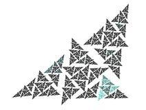 Geometric background. Colorful geometric black background - Triangle Royalty Free Stock Photos