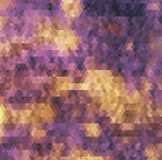 Geometric background. Colorful retro hipsters illustration Royalty Free Stock Image