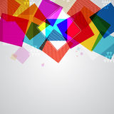 Geometric background with colorful squares. Royalty Free Stock Image