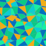Geometric background of colorful triangles Royalty Free Stock Image