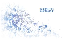 Geometric background concept. Abstract connections on white. Modern technology design. Communication backdrop. Vector Royalty Free Stock Photos
