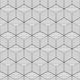 Geometric background. Cube design with lines, vector Stock Image