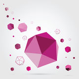 Geometric background. 3D Vector. Royalty Free Stock Photos