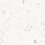 Geometric background with dotted and striped circles Royalty Free Stock Photos