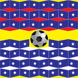 Geometric background football on the star flag Royalty Free Stock Photography