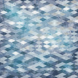 Geometric background. With grungy texture in gray tone stock illustration
