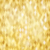 Geometric background. With grungy texture in yelow tone royalty free illustration
