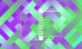 Colorful Abstract Background with Glow Effect. Geometric Background with Halftone Rectangles. Trendy Colorful Gradient. Bright Abstract Template for Cover Stock Photo
