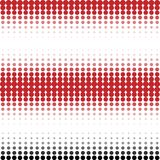 Geometric background in hipster style. Seamless horyxontal pattern - strypes in raster halftone style Stock Photography