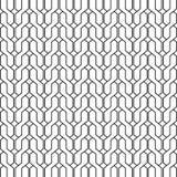 Geometric background of interlacing black lines Stock Image