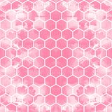 The geometric background made out of hexagons in various colors / The retro hexagon background stock illustration