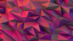 Geometric background made of sharp forms with trendy colors, gen. Erative art, polygonal. 3D render Stock Photography